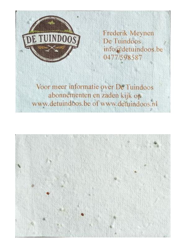 De-Tuindoos-visitekaartje-voor-en-achterkant Een ode aan het visitekaartje