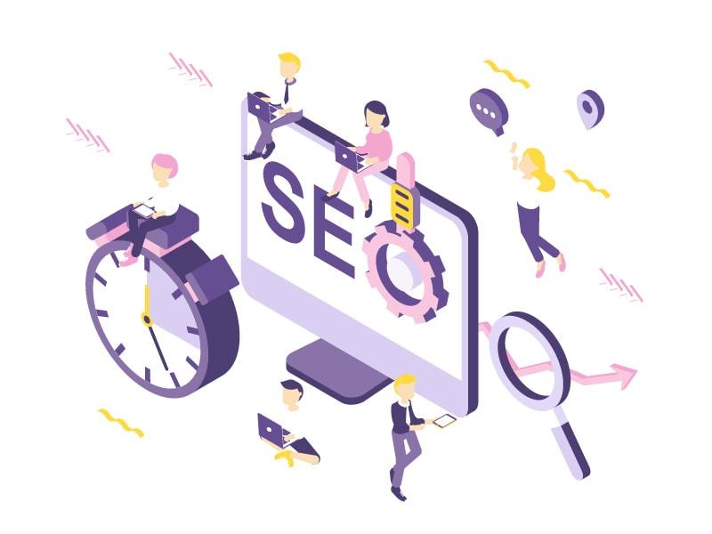SEO-illustratie-dode-links-urls-flat-design-80 10 Tips om je Wordpress site te onderhouden