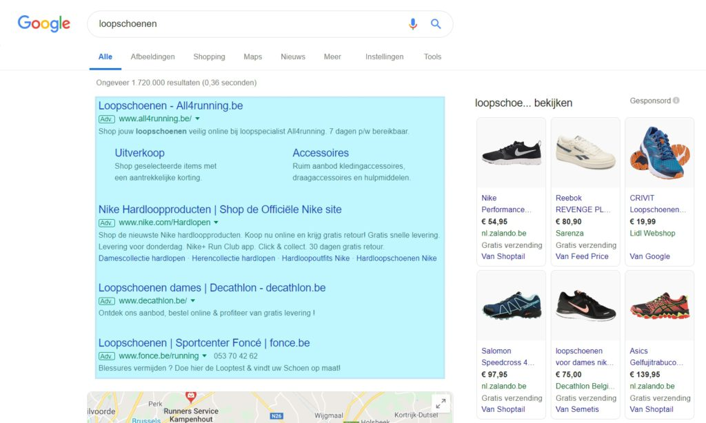 03-g-Ads-zoekadvertenties-voorbeeld-1024x614 Adverteren met Google Ads voor beginners (2019)