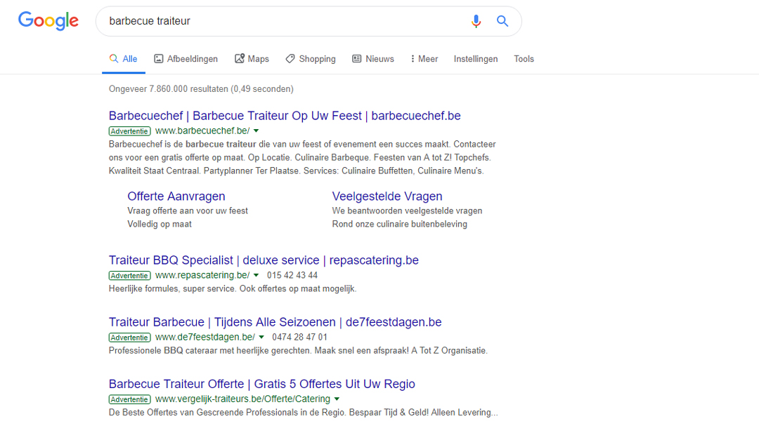 Google-Ads-Barbecuechef-zoekwoord-barbecue-traiteur-bovenaan Google Ads